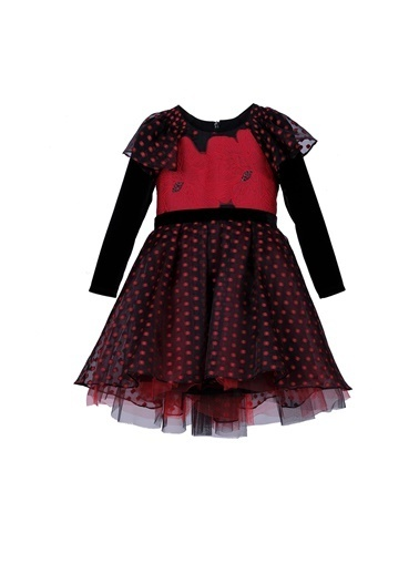 Lia Lea Kız Bebek Kırmızı Elbise Kırmızı